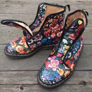 Sienna Miller Floral Docs Vintage UK 5 US 7.5